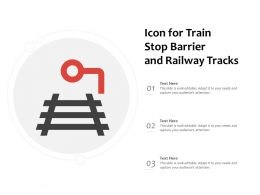 Icon For Train Stop Barrier And Railway Tracks