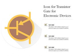 Icon For Transistor Gate For Electronic Devices