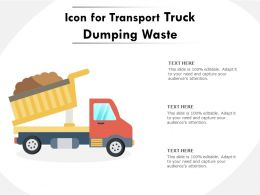Icon For Transport Truck Dumping Waste