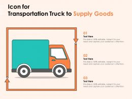 Icon For Transportation Truck To Supply Goods