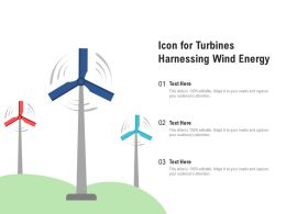 Icon For Turbines Harnessing Wind Energy
