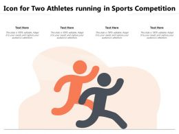 Icon For Two Athletes Running In Sports Competition