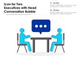 Icon For Two Executives With Head Conversation Bubble