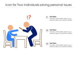 Icon For Two Individuals Solving Personal Issues