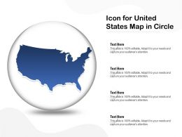 Icon For United States Map In Circle