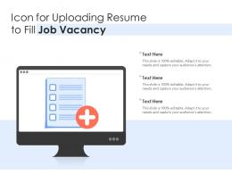 Icon For Uploading Resume To Fill Job Vacancy