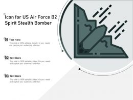 Icon For US Air Force B2 Spirit Stealth Bomber