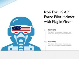 Icon For US Air Force Pilot Helmet With Flag In Visor