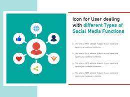 Icon For User Dealing With Different Types Of Social Media Functions