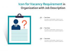 Icon For Vacancy Requirement In Organization With Job Description