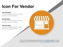 Icon For Vendor Powerpoint Presentation