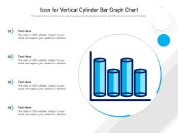 Icon For Vertical Cylinder Bar Graph Chart
