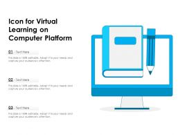 Icon For Virtual Learning On Computer Platform