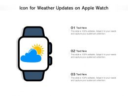 Icon For Weather Updates On Apple Watch