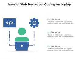 Icon For Web Developer Coding On Laptop