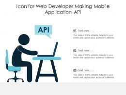 Icon For Web Developer Making Mobile Application Api