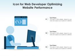 Icon For Web Developer Optimizing Website Performance