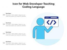 Icon For Web Developer Teaching Coding Language