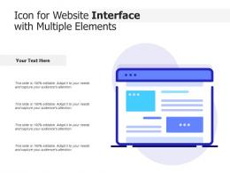 Icon For Website Interface With Multiple Elements