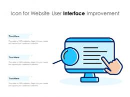 Icon For Website User Interface Improvement