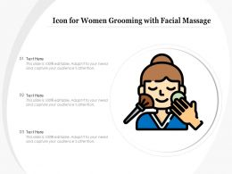 Icon For Women Grooming With Facial Massage