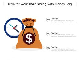 Icon For Work Hour Saving With Money Bag