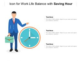 Icon For Work Life Balance With Saving Hour