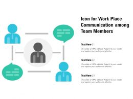 Icon For Work Place Communication Among Team Members