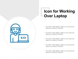 Icon For Working Over Laptop