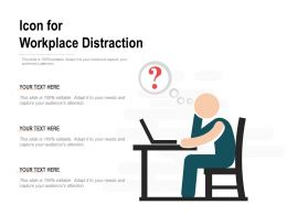 Icon For Workplace Distraction