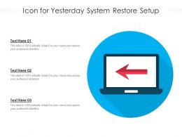 Icon For Yesterday System Restore Setup