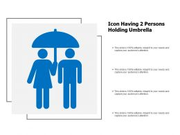 Icon Having 2 Persons Holding Umbrella