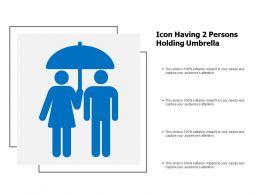 Icon Having 2 Persons Holding Umbrella