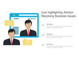 Icon Highlighting Advisor Resolving Business Issues