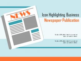 Icon Highlighting Business Newspaper Publication