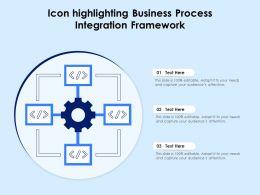 Icon Highlighting Business Process Integration Framework