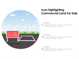 Icon Highlighting Commercial Land For Sale