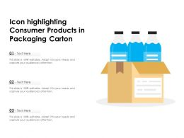 Icon Highlighting Consumer Products In Packaging Carton