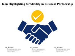 Icon Highlighting Credibility In Business Partnership