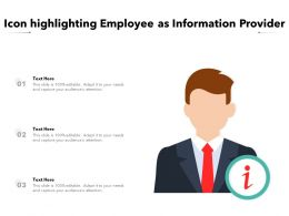 Icon Highlighting Employee As Information Provider