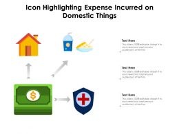 Icon Highlighting Expense Incurred On Domestic Things