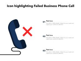 Icon Highlighting Failed Business Phone Call