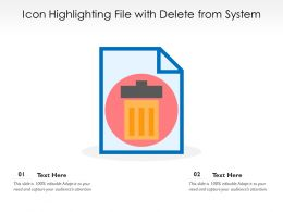 Icon Highlighting File With Delete From System