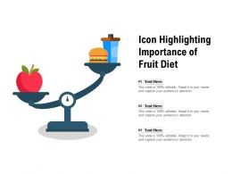 Icon Highlighting Importance Of Fruit Diet