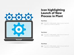 Icon Highlighting Launch Of New Process In Plant