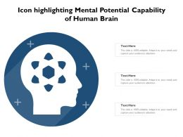 Icon Highlighting Mental Potential Capability Of Human Brain