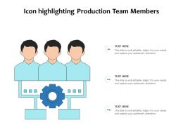 Icon Highlighting Production Team Members