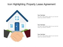 Icon Highlighting Property Lease Agreement