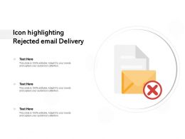 Icon Highlighting Rejected Email Delivery
