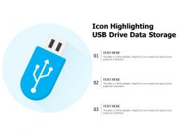 Icon Highlighting USB Drive Data Storage
